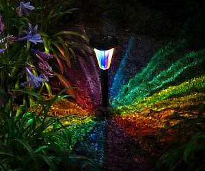 Rainbow Kaleidoscope Solar Path Light