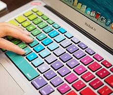 MacBook Rainbow Keyboard Decal