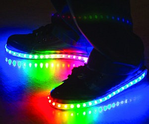 DIY Rainbow LED Shoes