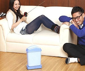 Remote Control Garbage Can