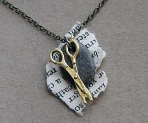 Rock Paper Scissors Necklace