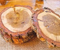 Rustic Wood Drink Coasters
