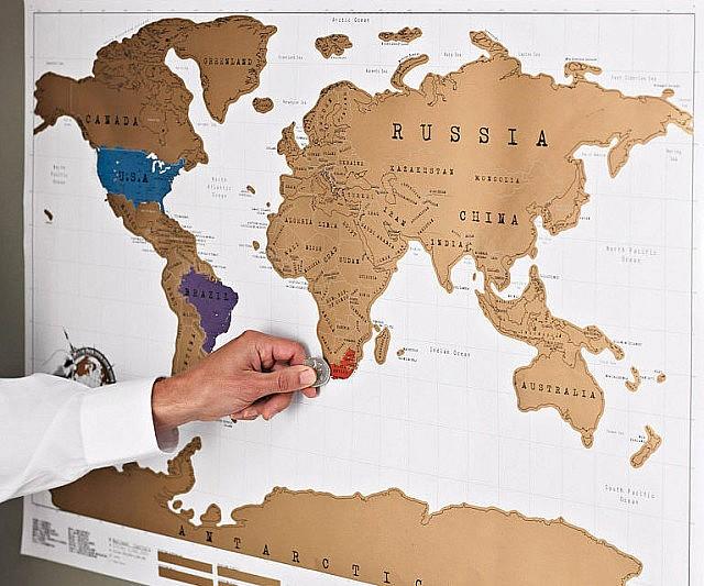 World Traveler Scratch Off Map