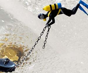 Scuba Diver Bathtub Plug
