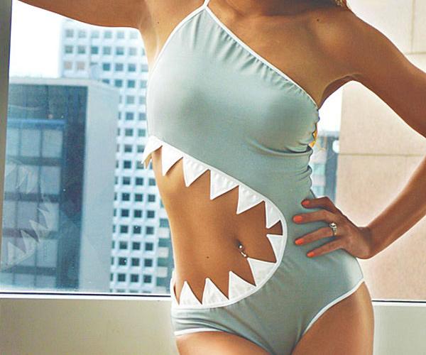 Shark Bite Bathing Suit