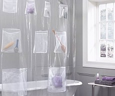 Shower Curtain With Pockets