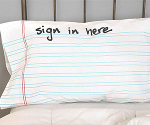 Sign-In Pillow Case