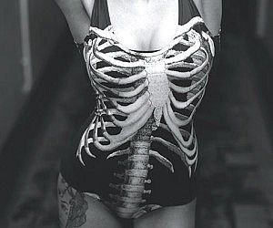 Skeleton Swim Suit