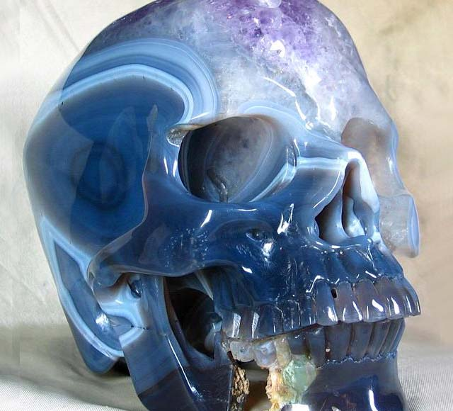Amethyst Carved Skull