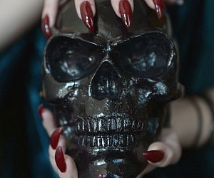 Human Skull Candle