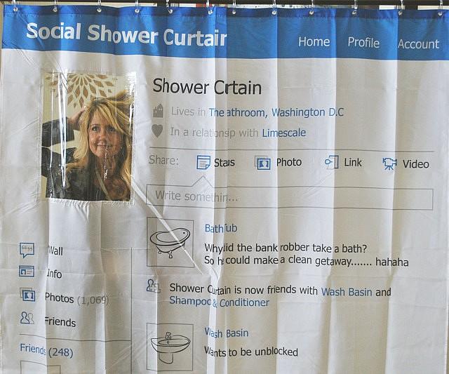 Facebook Profile Shower Curtain