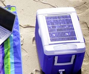 Solar Panel Drink Cooler
