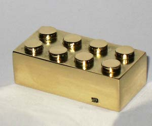 Solid Gold LEGO Brick