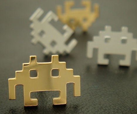 space-invader-earrings