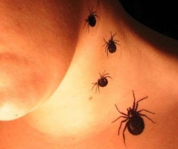 Temporary Spider Tattoo