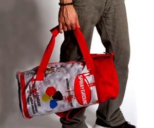 Spray Paint Duffle Bag