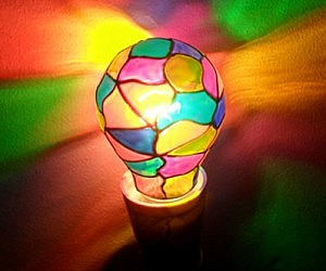 Stained Glass Lightbulb