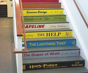Classic Book Stair Decals
