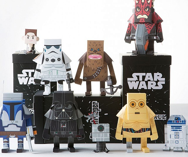 Star Wars Paper Craft Action Figures