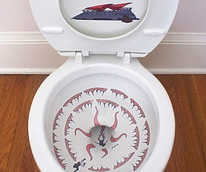 Star Wars Sarlacc Toilet Stickers