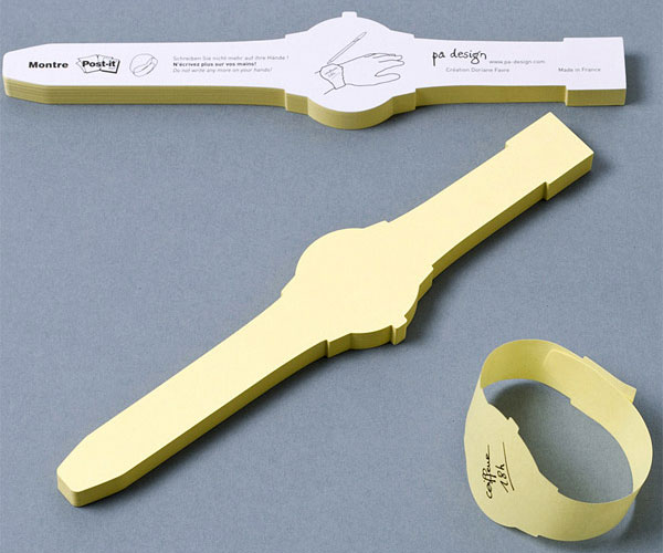 Wrist Watch Post It Notes