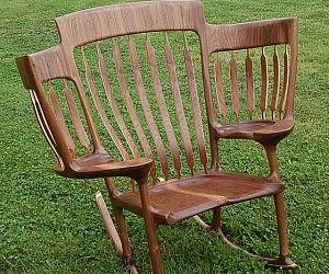 Three Seat Rocking Chair