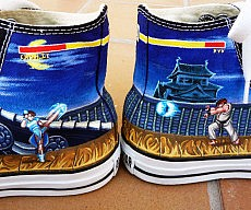 Street Fighter Converse Shoes