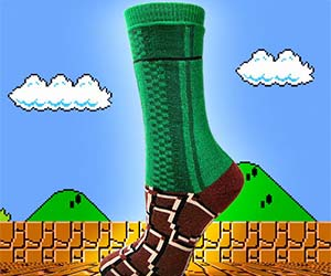 Super Mario Warp Zone Socks