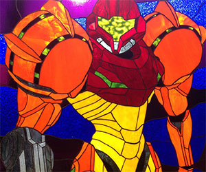 Super Metroid Stained Glass