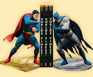 Superman and Batman Bookends