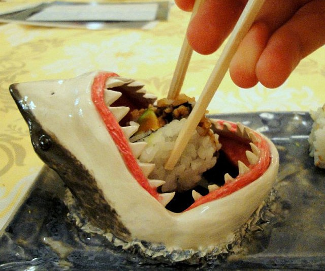 Great White Shark Sushi Plate
