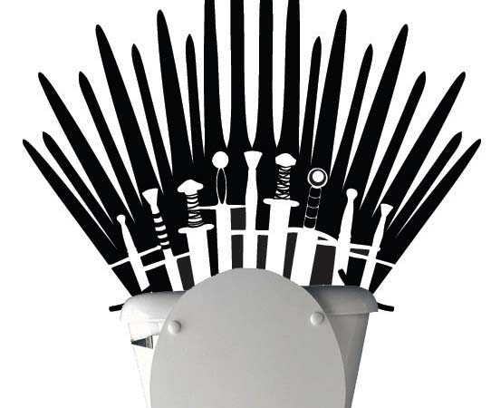 Iron Throne Silhouette Iron Throne Toilet Decal