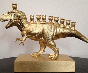 T-Rex Hanukkah Menorah