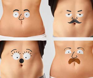 Belly Face Temporary Tattoos
