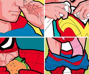Secret Lives Of Superheroes Prints