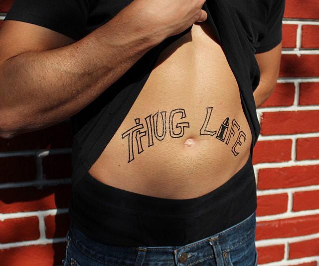 Thug Life Temporary Tattoos