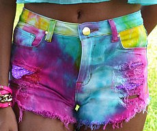 Tie Dye Cutoff Shorts