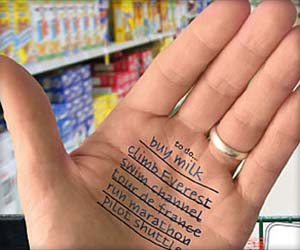 To Do List Temporary Tattoo