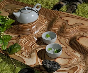 Topographic Tea Table