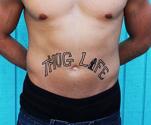 Thug Life Temporary Tattoos