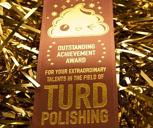 Turd Polishing Award Ribbon