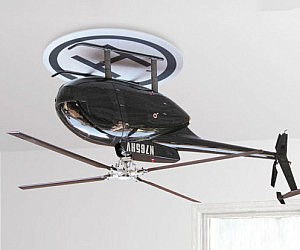 Upside Down Helicopter Fan