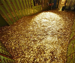Bank Vault Of Gold Coins