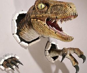 Realistic Wall Bursting Velociraptor
