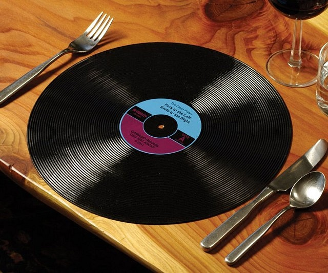 Vinyl Record Dinner Placemats