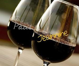 Wine Glass Metallic Pen