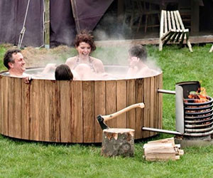 Wood Burning Hot Tub