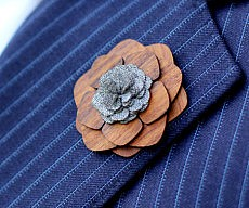 Wooden Lapel Flowers
