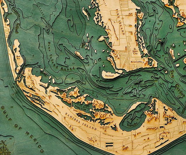 wooden-bathymetric-charts