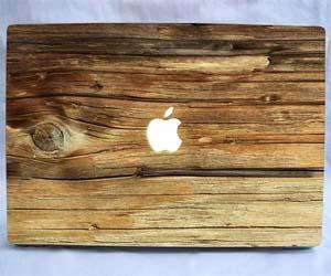Wooden MacBook Decal